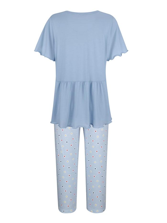Pyjamas med romantiska volanger