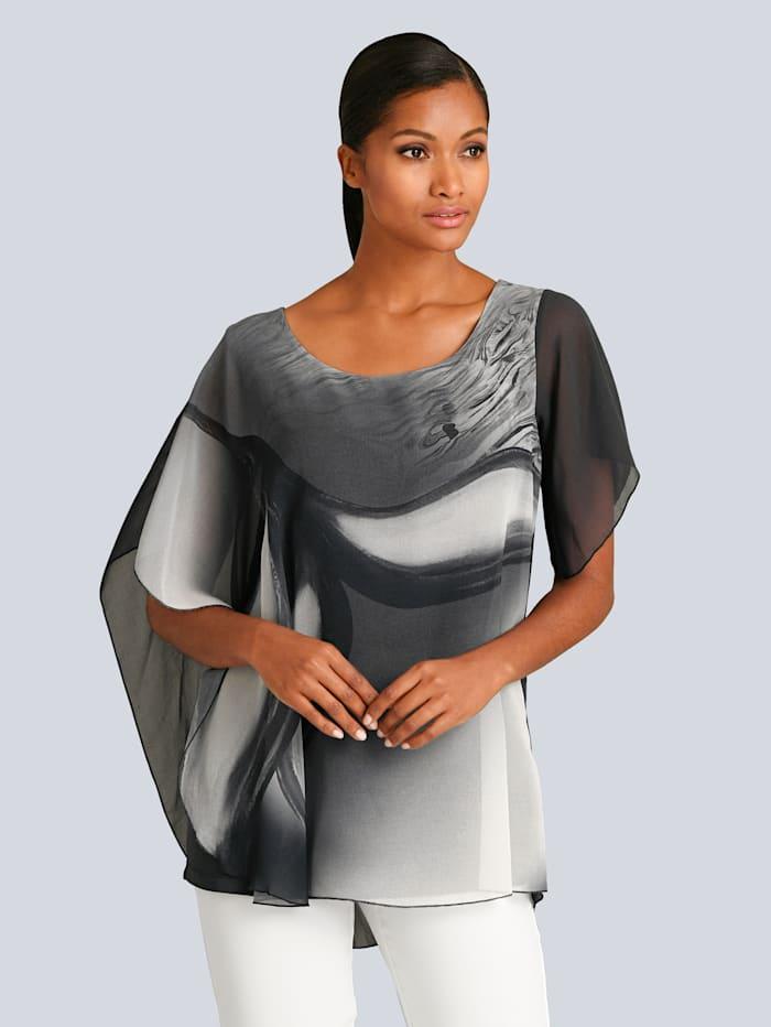 Alba Moda Shirt met mooie print voor, Grijs/Offwhite
