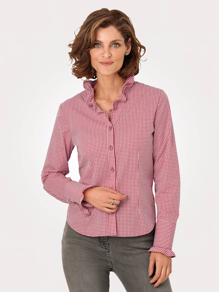 Blouse with romantic frill detailing