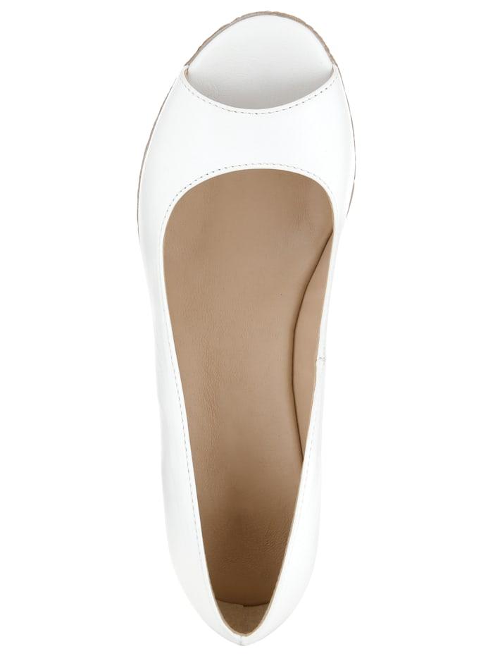 Peep Toe Wedge made of high-quality napa leather