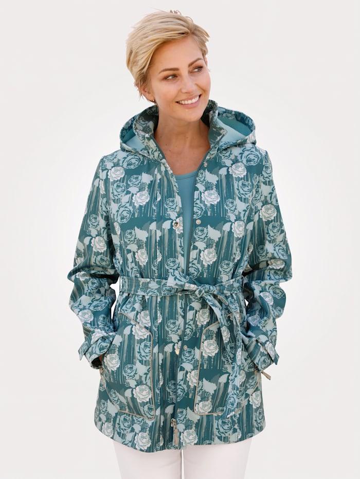 MONA Veste softshell à doublure en polaire, Turquoise