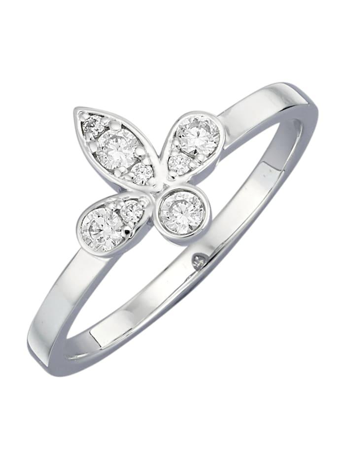 Diemer Diamant Lilien-Ring mit Brillanten, Weiß