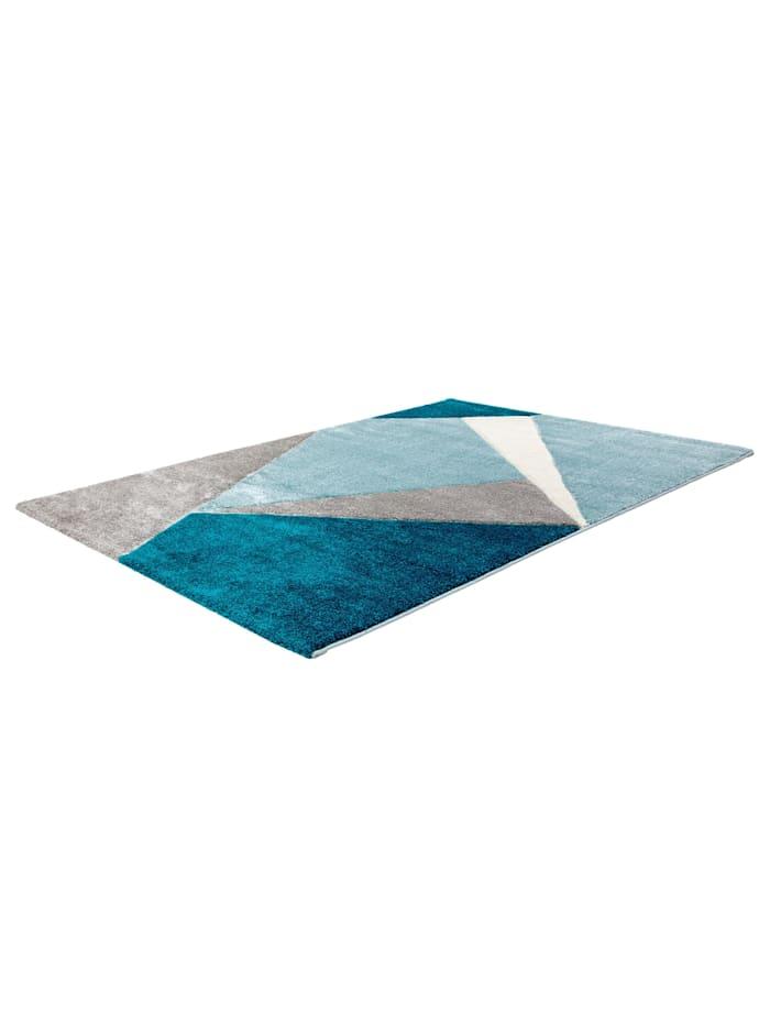 Cats Collection Design Teppich Konturenschnitt Hochglanzgarn ocean, blau