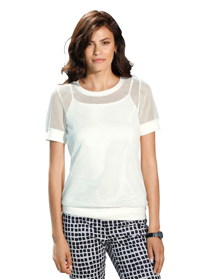 AMY VERMONT Shirt met topje in trendy stijl, Wit