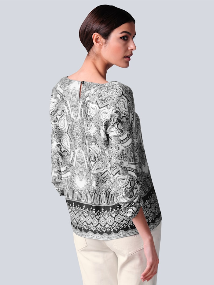 Bluse mit Paisleymuster allover