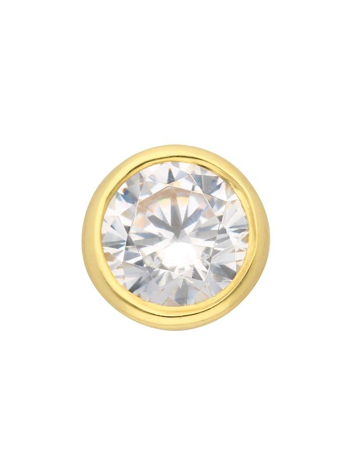 1001 Diamonds Damen Goldschmuck 333 Gold Anhänger mit Zirkonia Ø 7 mm, gold