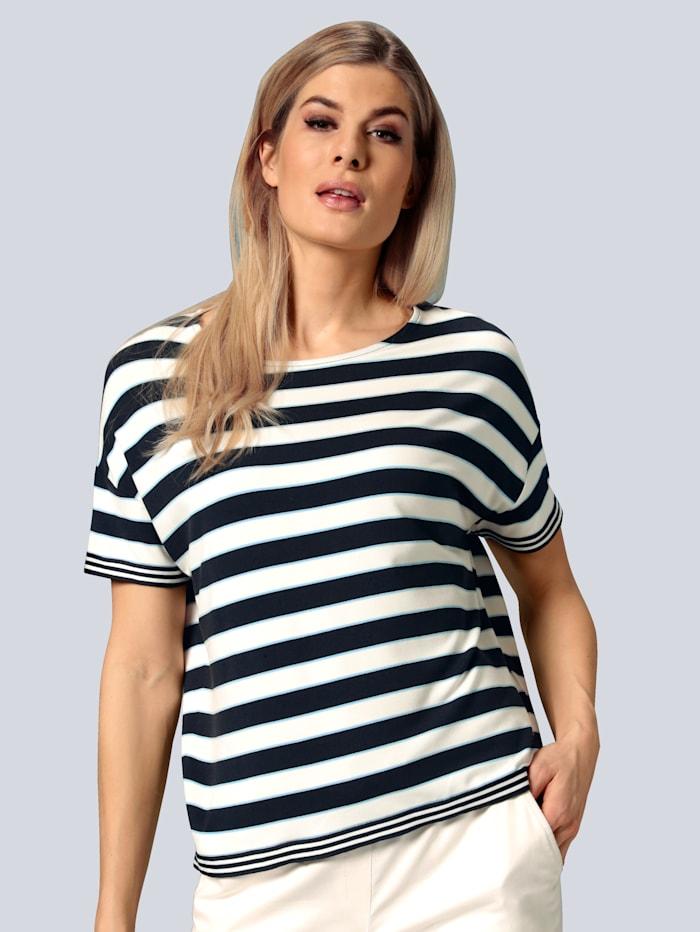 BRAX Shirt mit Streifen, Blau/Weiß