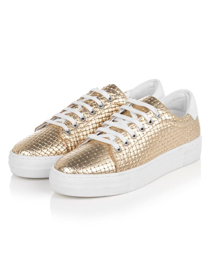 SIENNA Sneaker, Goldfarben