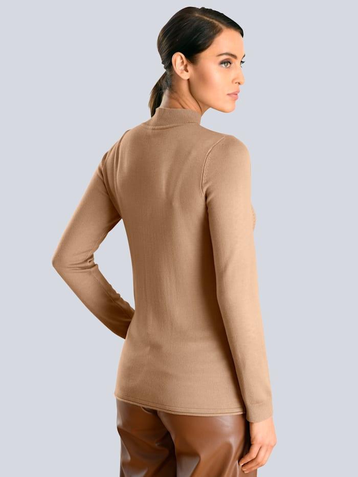 Pullover mit dezentem Ajour-Muster