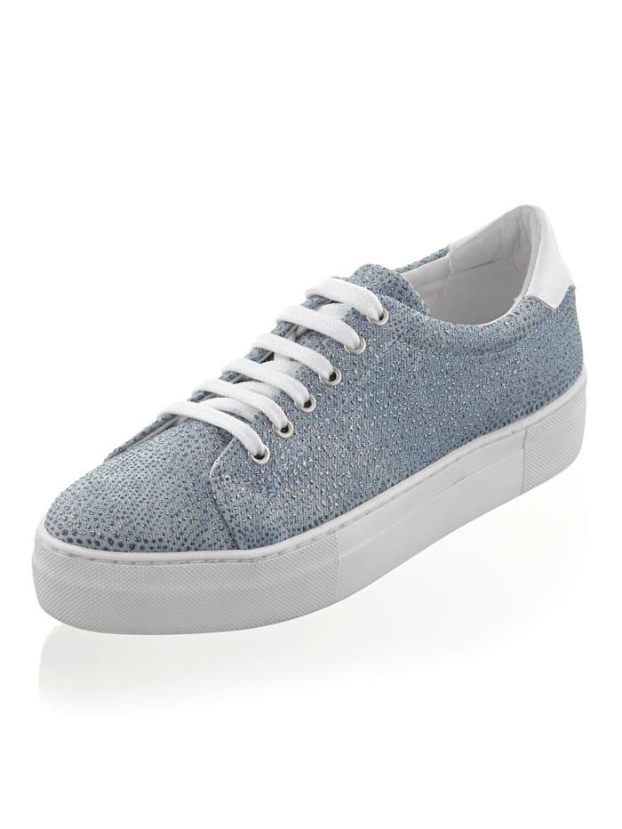 Alba Moda Sneaker in Jeans-Optik, Blau/Weiß