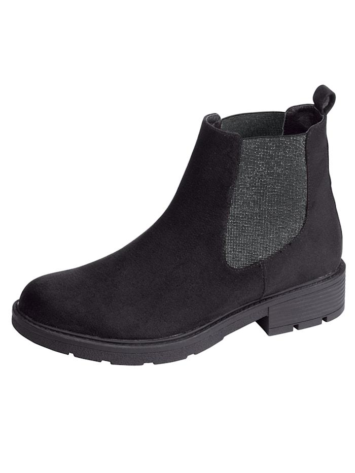 Fitters Footwear Chelsea-Boot mit attraktiven Elasteinsätzen, Schwarz