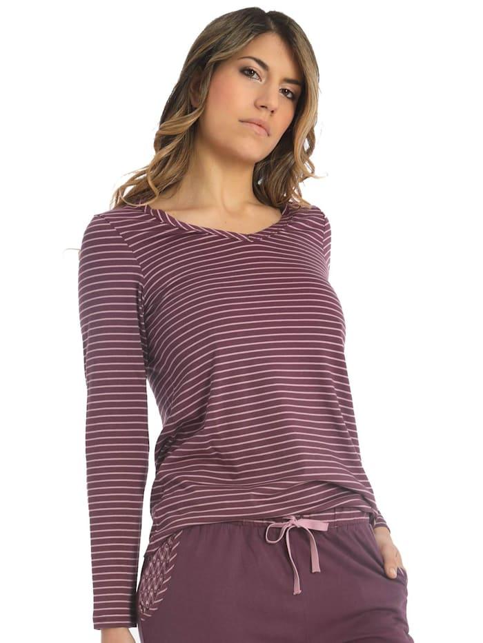 sassa Damen T-Shirt Langarm Lovely Winter, purple