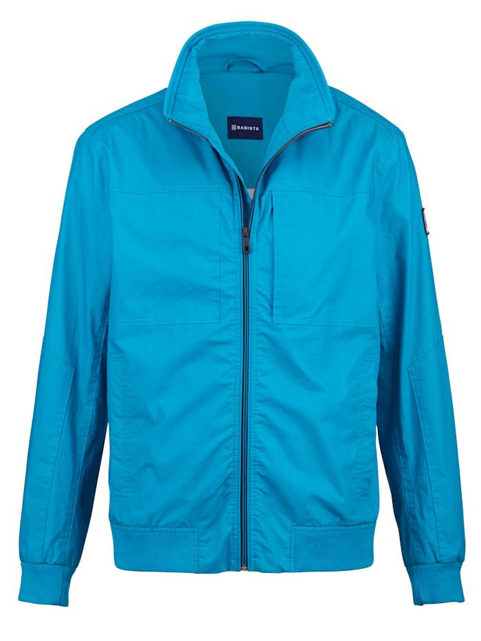 BABISTA Jas in een opvallende kleur, Turquoise