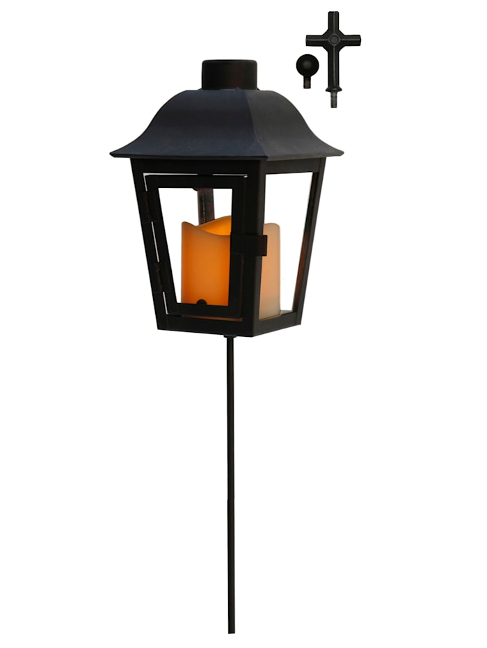 Star Trading Lanterne LED avec pointe interchangeable, Noir