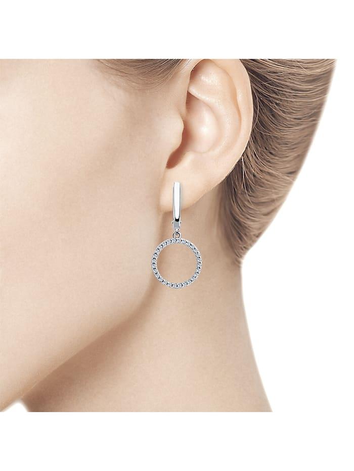 Damen-Ohrringe Ohrhänger Kreis 925 Silber