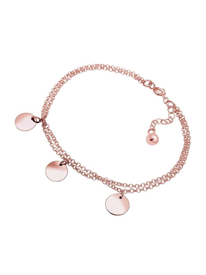 Armband Kreis Layer Geo Plättchen 925 Sterling Silber