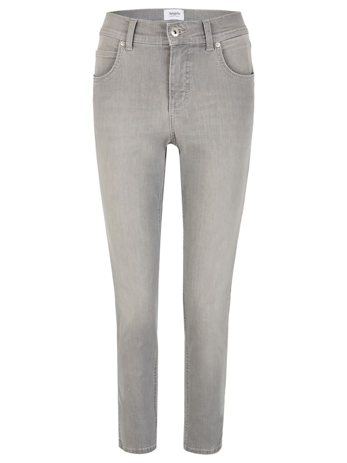 Angels Ankle-Jeans 'Ornella' mit leichter Used-Waschung, light grey used buffi