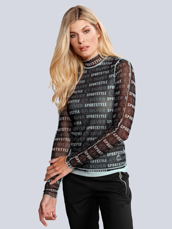 SPORTALM T-Shirt im modischen Layerlook, Silbergrau