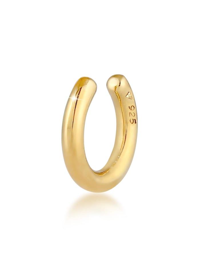 Elli Ohrringe Earcuff Single Basic Look 925 Silber, Gold