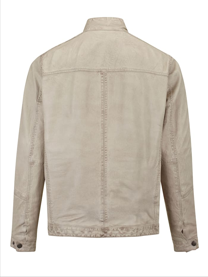 Leren jas in modieuze used look