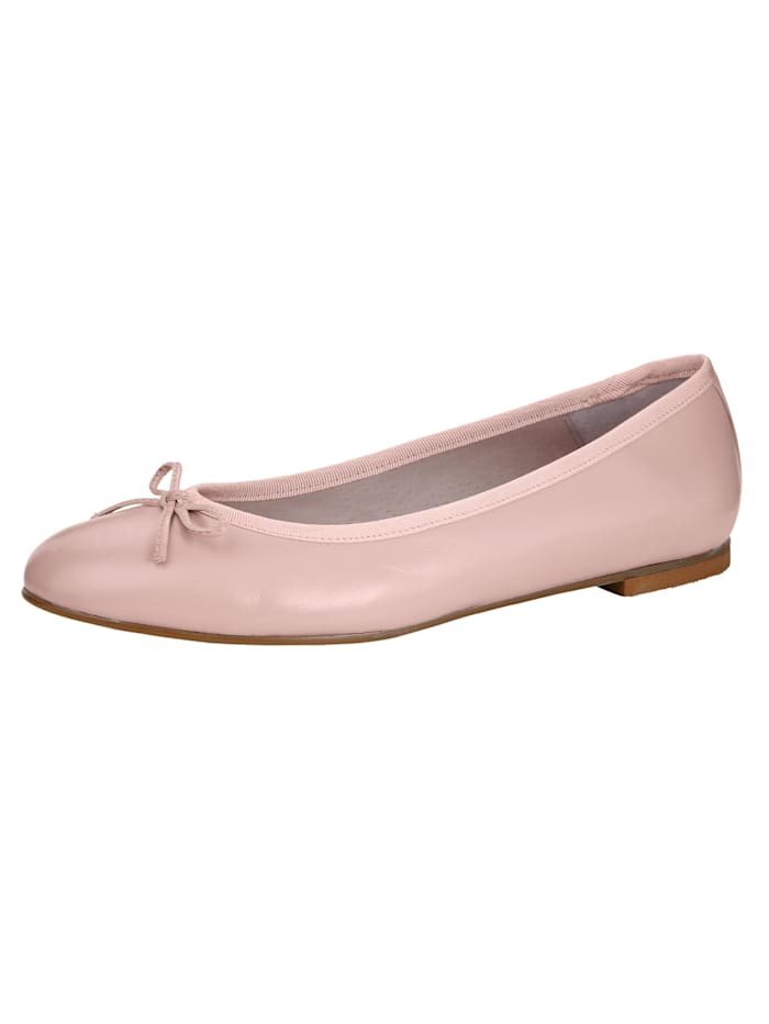 Ballet Court shoes made from soft Nappa leather, Rosé