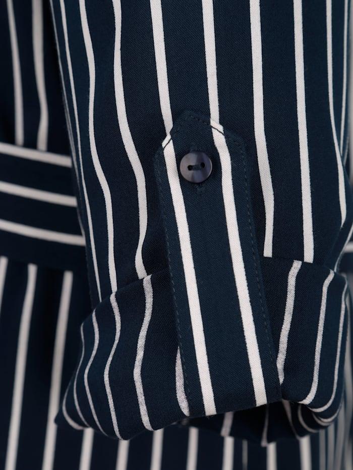 Blusenkleid mit Längsstreifen