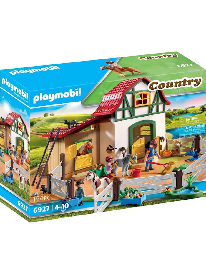 PLAYMOBIL Konstruktionsspielzeug Ponyhof, Bunt