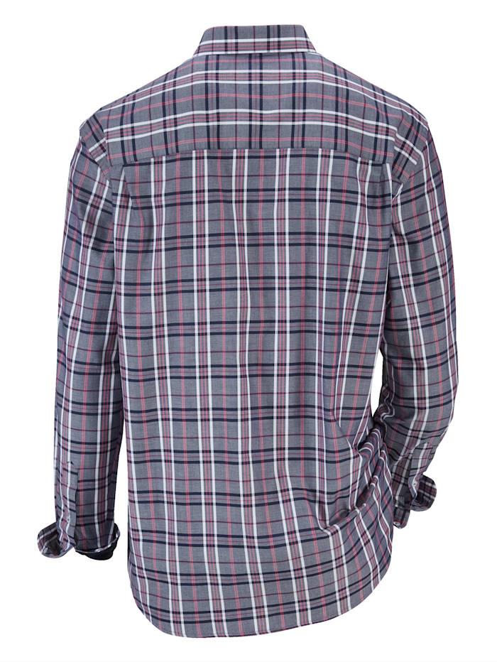 Hemd mit Feincord-Besatz
