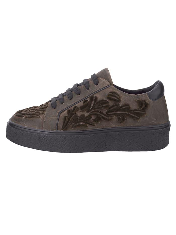 Sneakers à plateau d'aspect usé