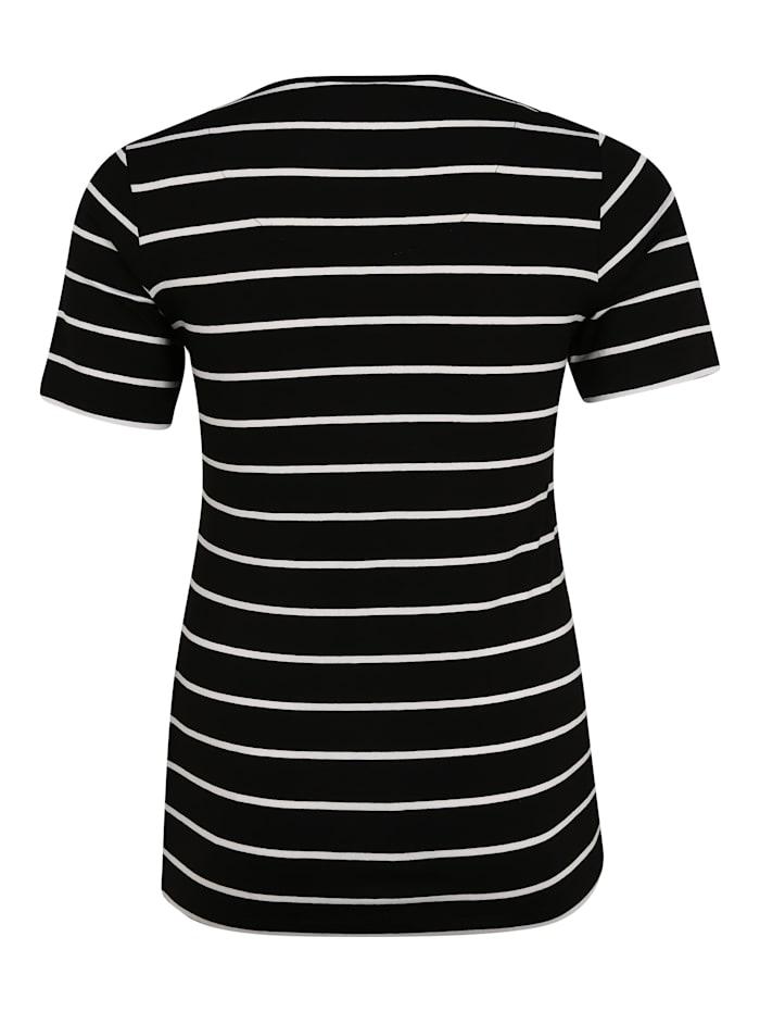 T-Shirt mit Wording Glitzereffekt