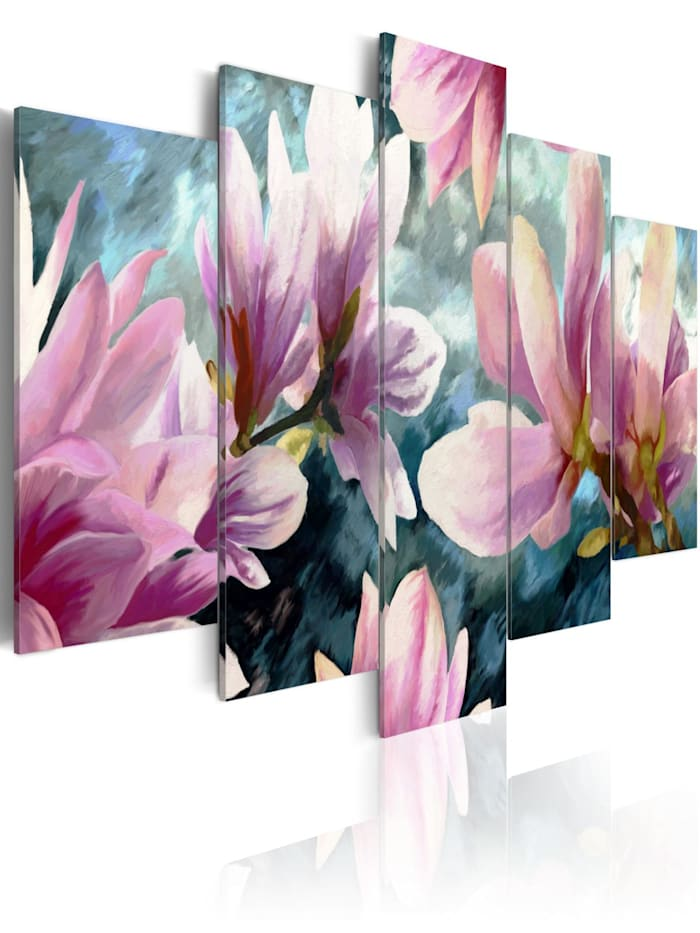 artgeist Wandbild Song without words, Creme,Blau,rosa,Weiß