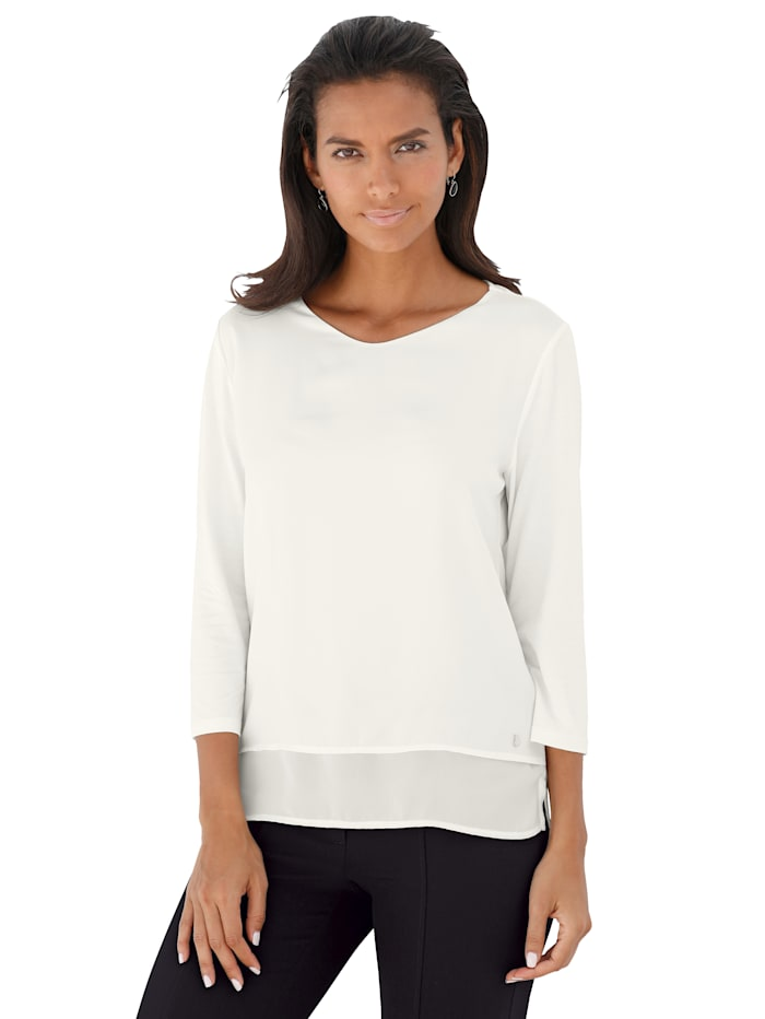 Betty Barclay Shirtbluse in angesagtem Materialmix, Off-white