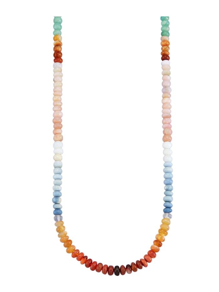 Amara Pierres colorées Collier avec opales en opales, Multicolore