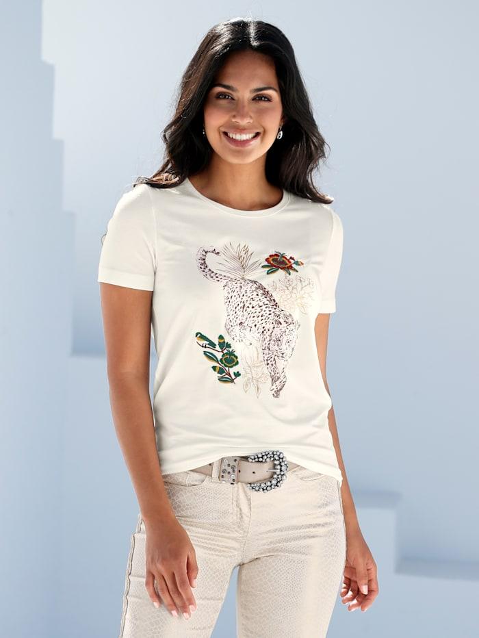 Shirt mit platziertem Animal-Druck