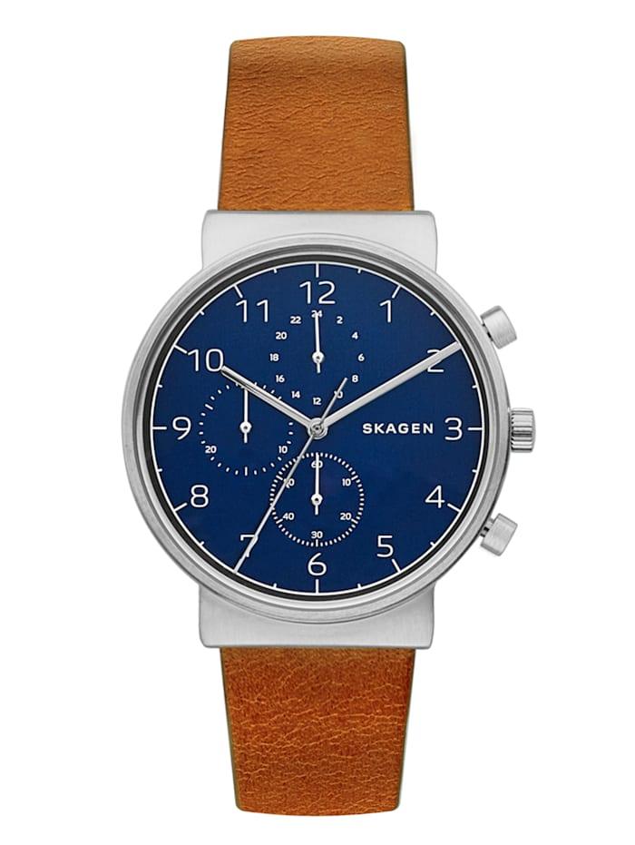 Skagen Herren-Uhr Chronograph SKW6358, Braun