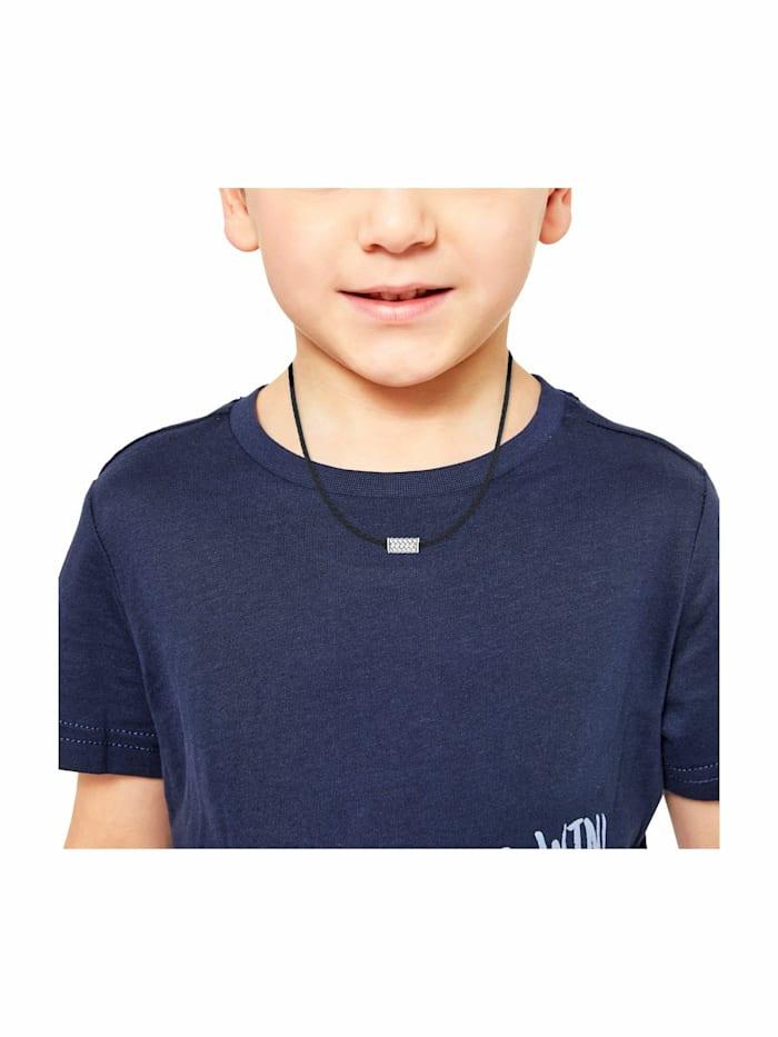 Halsband für Jungs, Leder, Edelstahl | Beads