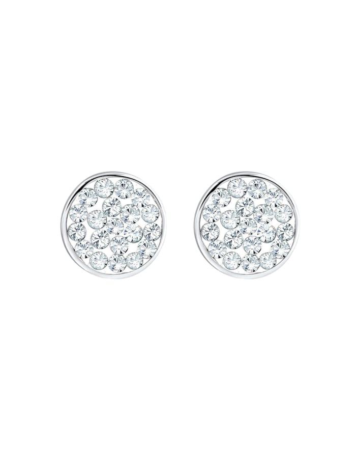 Ohrringe Ohrstecker Kreis Kristalle 925 Silber