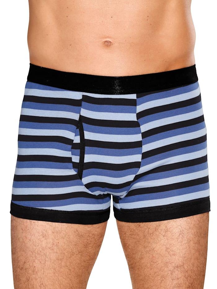 G Gregory Boxershorts met trendy streeppatroon, Lichtblauw/Marine