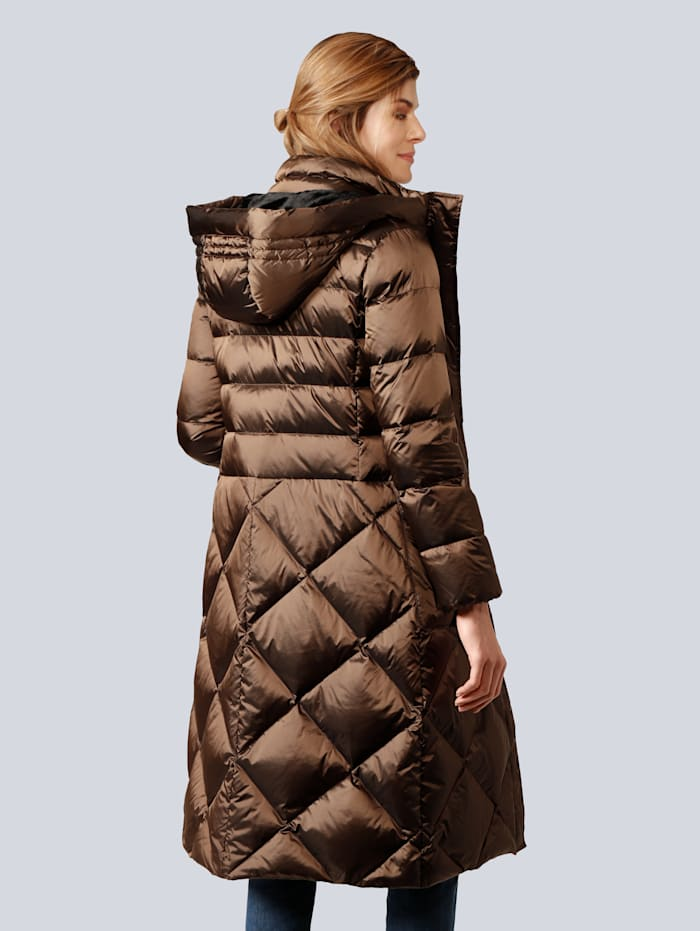 Mantel in edler Steppoptik