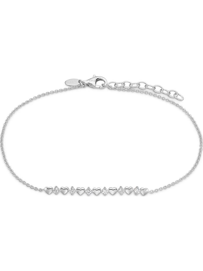 FAVS. FAVS Damen-Armband 925er Silber 6 Zirkonia, silber