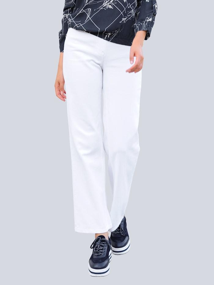 Alba Moda Jeans med trendigt vida ben, Offwhite