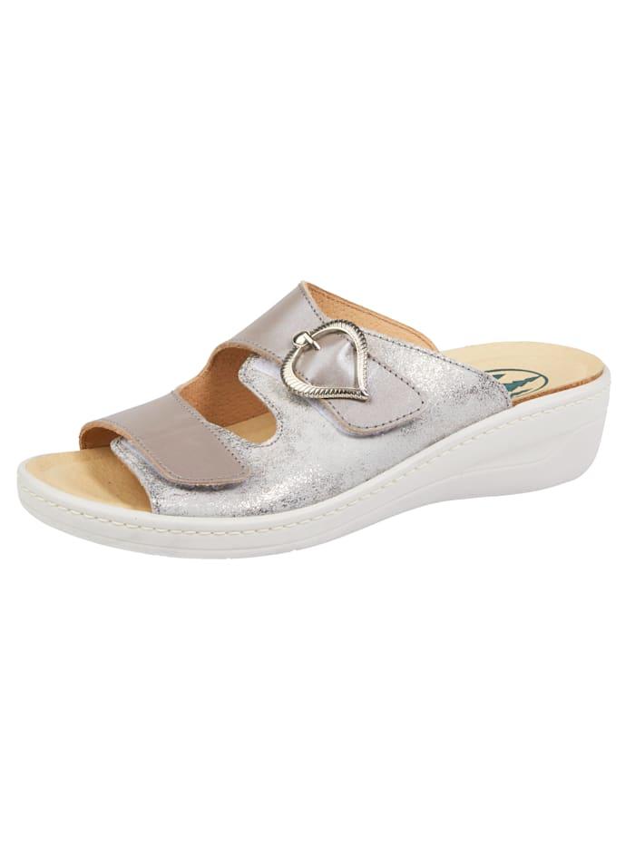 Franken Schuhe Pantolette, Taupe