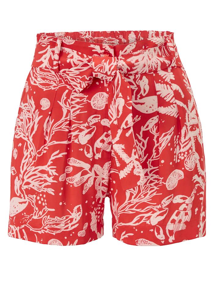 Fabienne Chapot Shorts, Rot/Weiß