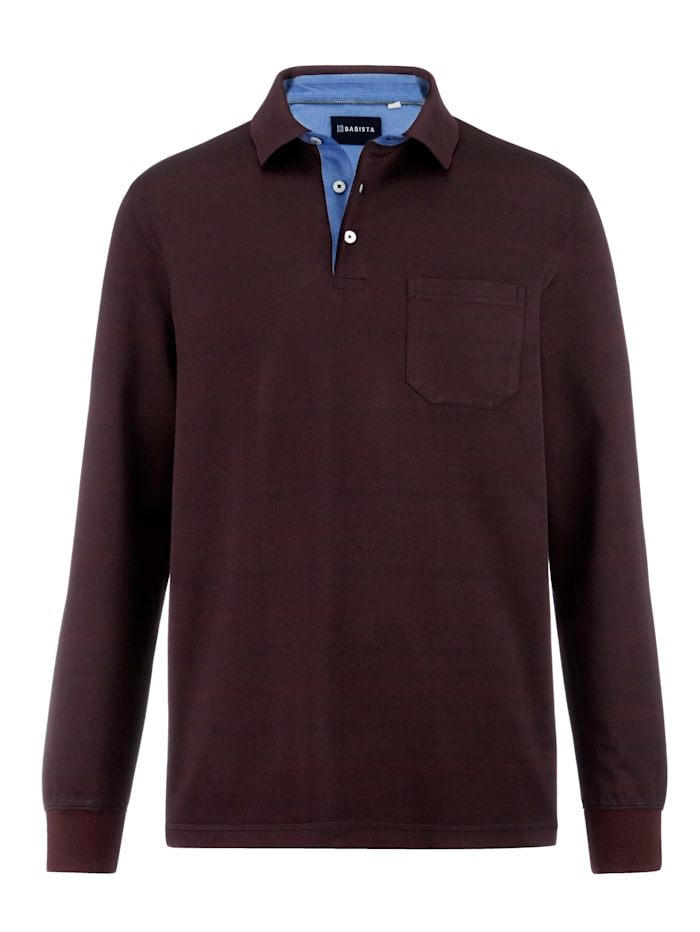 Babista Premium Poloshirt mit Jaquardmuster, Bordeaux