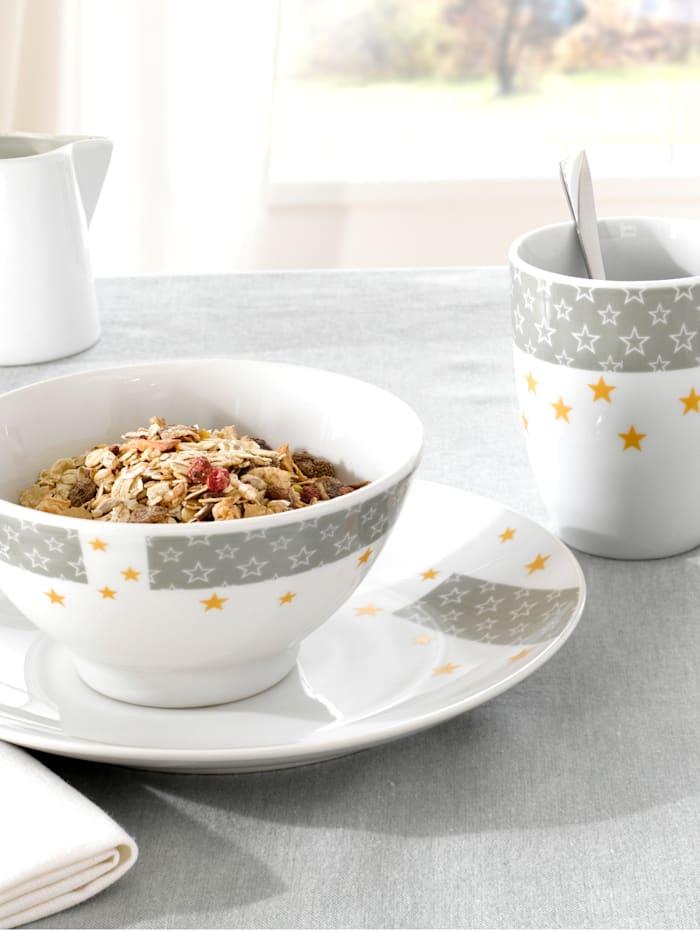 Casamaxx Service à petit-déjeuner 3 p., Multicolore