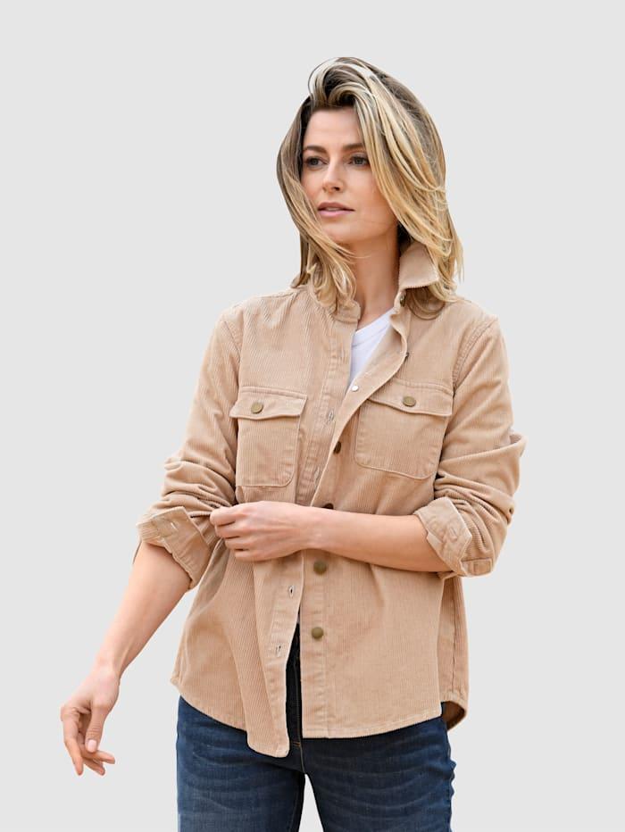 basically you Manchesterskjorta i klassisk modell, Ljusbrun