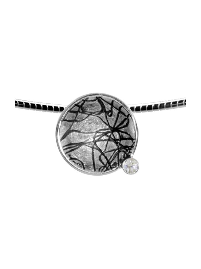 OSTSEE-SCHMUCK Halsreif mit Anhänger - Gleiter 16 mm-Sarah Vicenza - Silber 925/000 - Zirkonia, silber