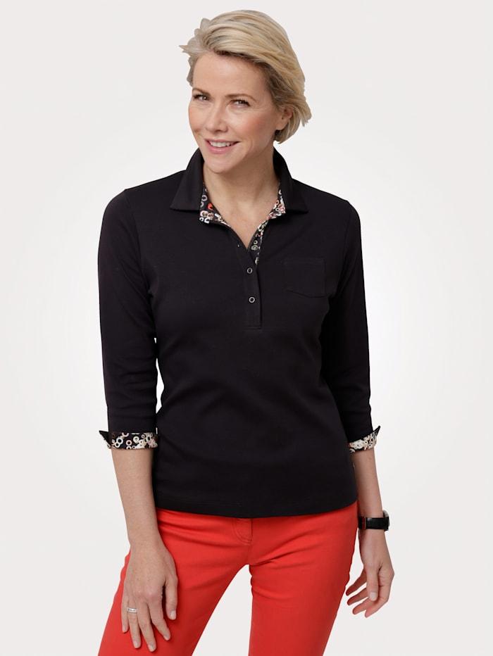 Rabe Poloshirt aus reiner Baumwolle, Schwarz