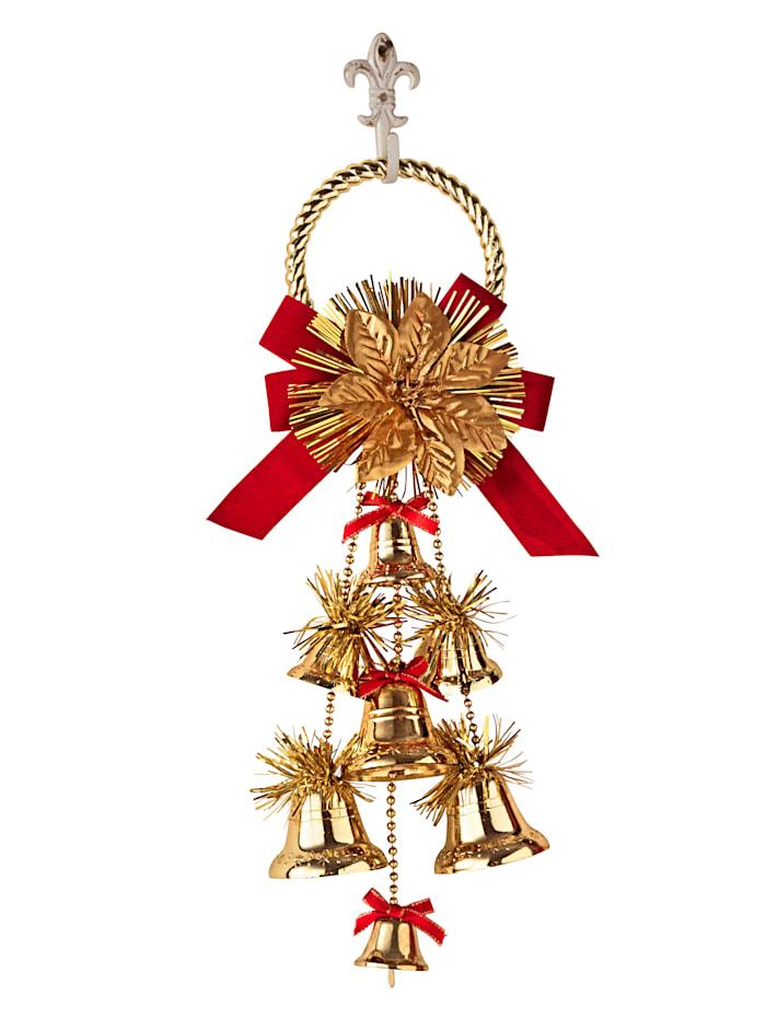 Suspension Cloches de Noël, Coloris or