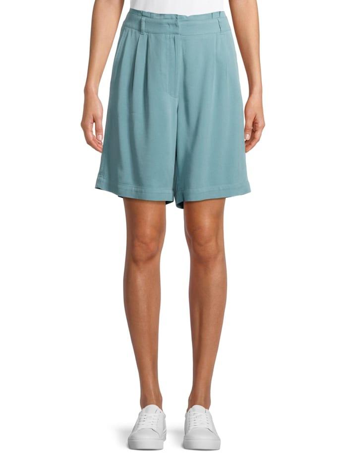 Betty & Co Shorts mit Bundfalten Material, Blau